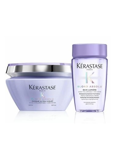 Kerastase Kerastase Blond Absolu Ultra Violet Maske 200 ml + Blond Absolu Bain Lumiere Şampuan 80 ml Renksiz